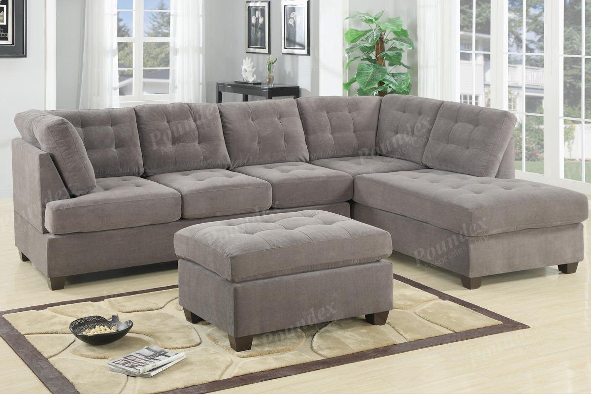 2 Pcs Sectional Sofa F7139 By Poundex Shop Online Furniture