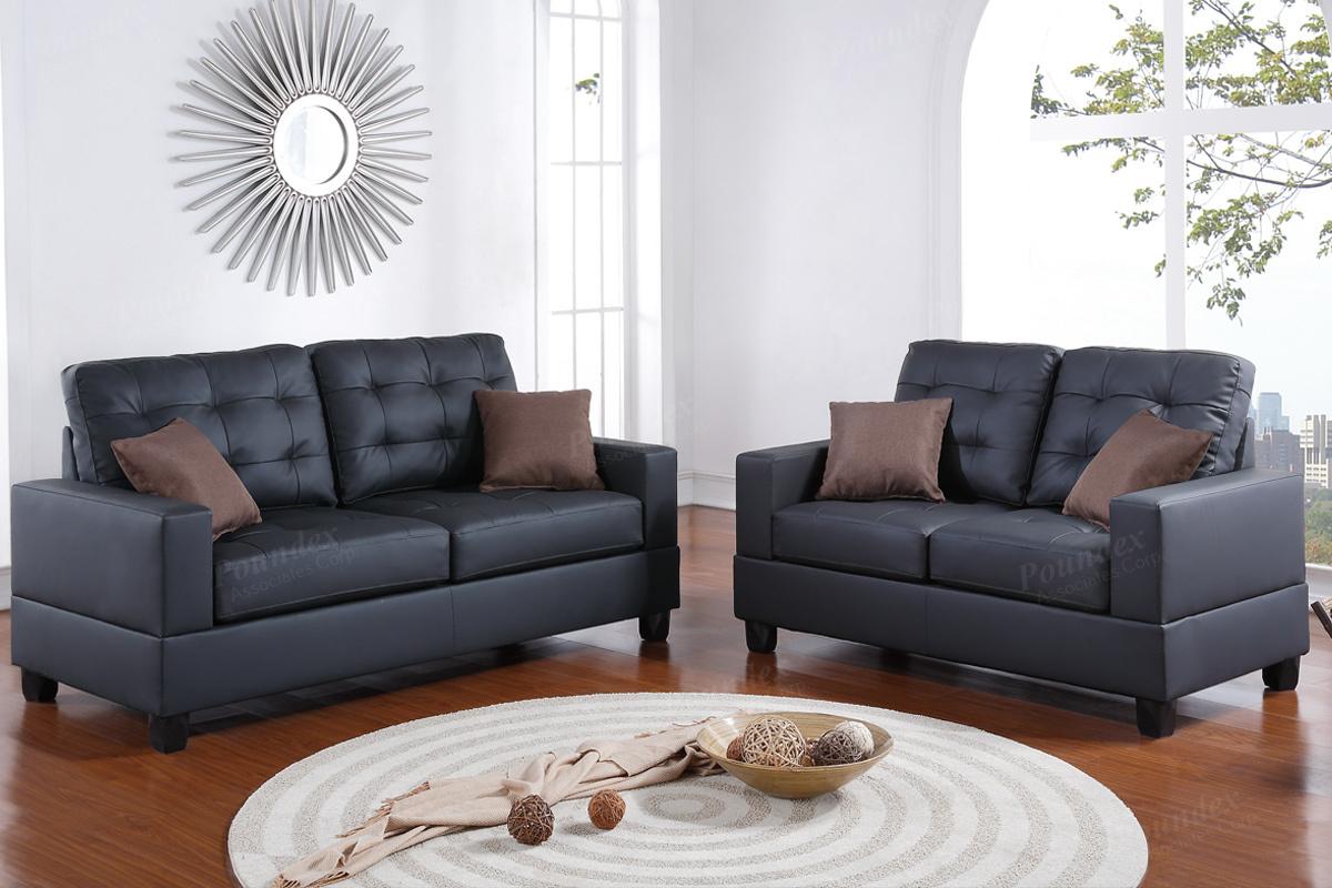 2 Pcs Sofa Set F7855 By Poundex Shop Online Furniture