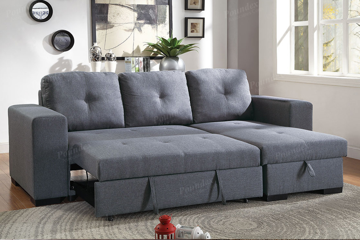 Fantastic 2 Pcs Sectional Sofa F6910 By Poundex Inzonedesignstudio Interior Chair Design Inzonedesignstudiocom