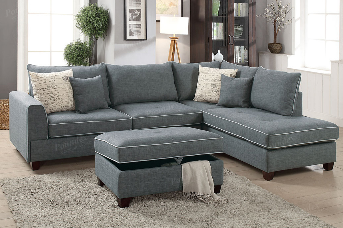 3 Pcs Sectional Sofa F6542 By Poundex Shop Online Furniture